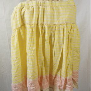 Old Navy XL Long Skirt With Stripes Two Layers